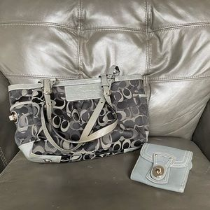 COACH COMBO bag and matching wallet